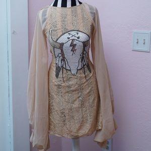 Wildfox Sequin Cowgirl Mini Dress